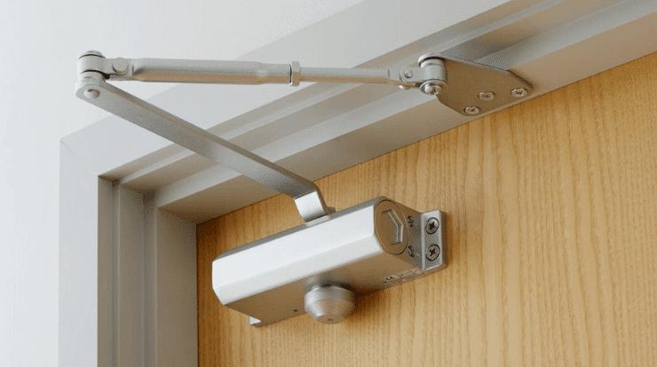 An example of an overhead door closer