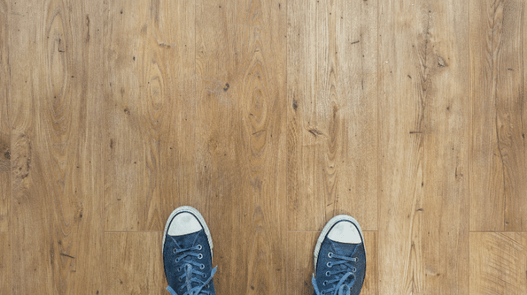 Wooden flooring in an upstairs flat