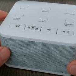 A white noise machine as an ear plug alternative