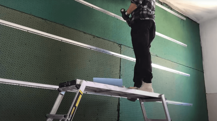 Installing soundproofing in a room