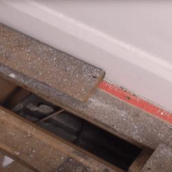 Standard floorboards being repaired