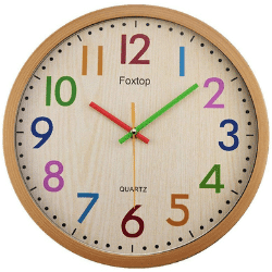 foxtop kids silent wall clock