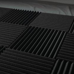 Black soundproof panels